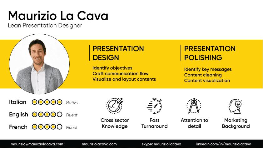 résumé presentation | Maurizio La Cava
