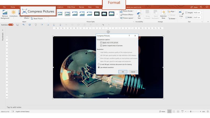 Ridurre dimensioni immagini PowerPoint