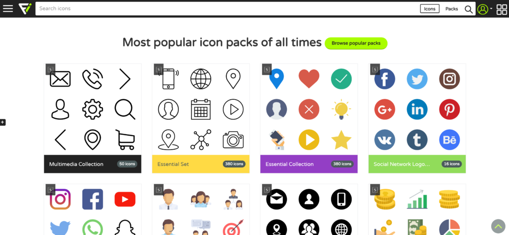 PowerPoint icons for presentations