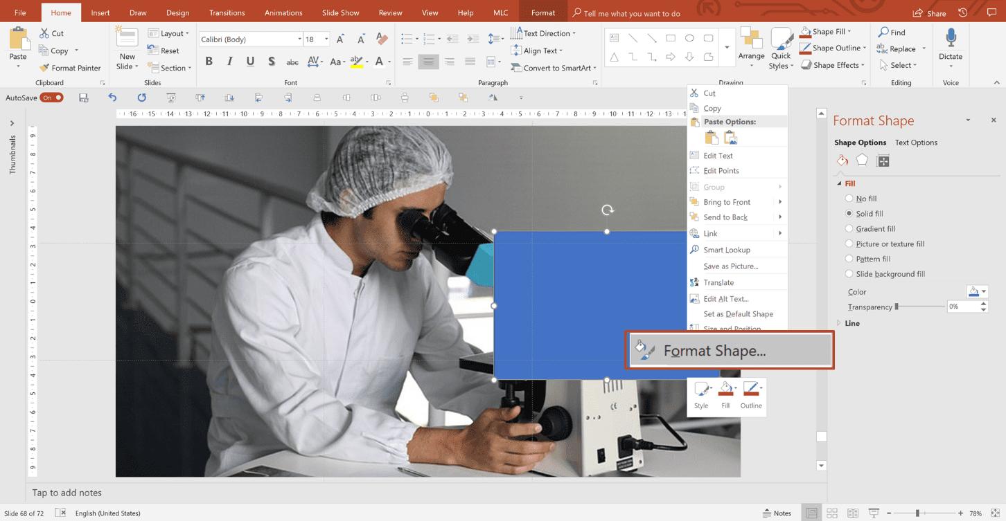 Trasparenza immagine PowerPoint
