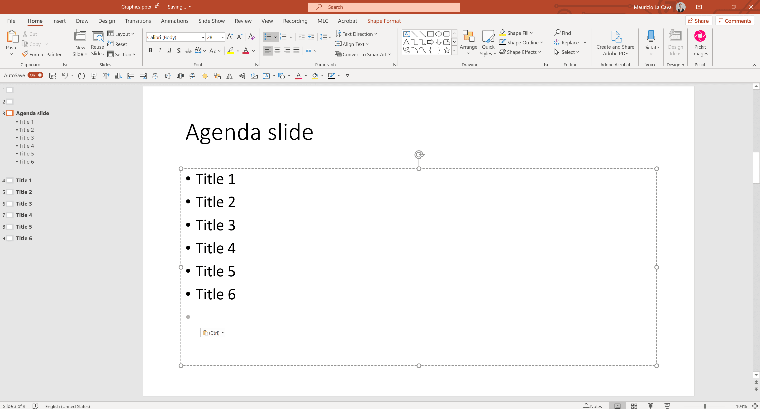 How to Create a Table of Contents in PowerPoint | Maurizio La Cava